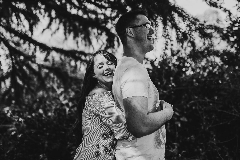 fun engagement shoot botanic gardens laughing bride and groom