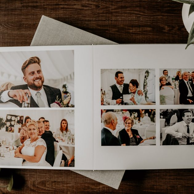 Grey Fine art wedding photography album example