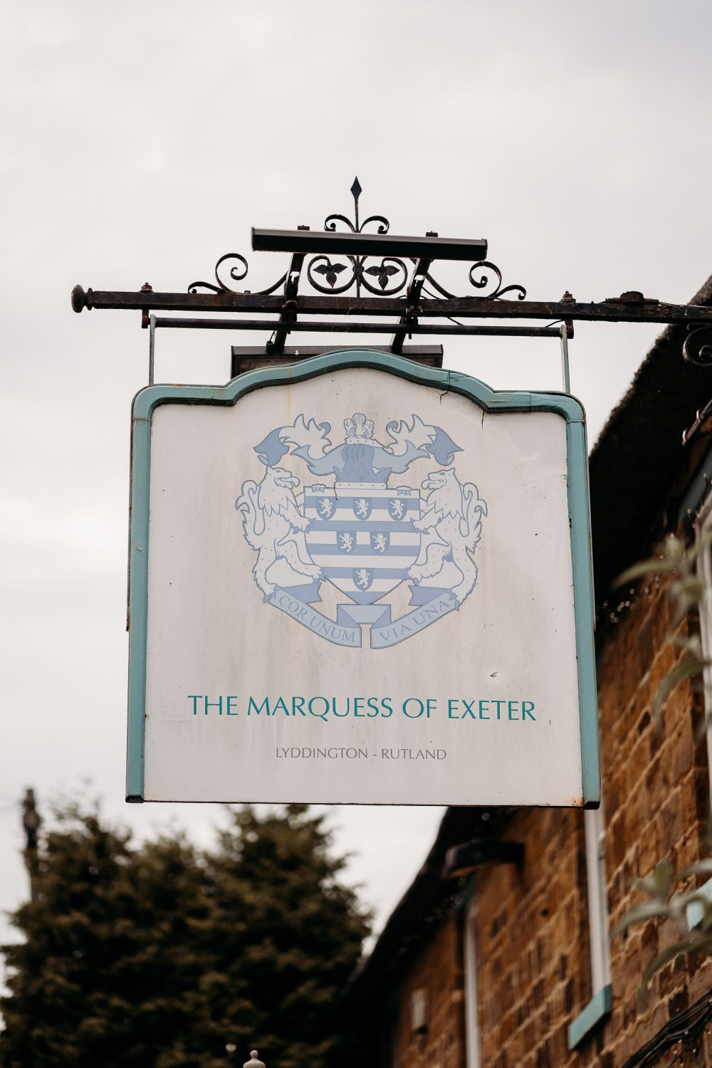 marquess of exeter wedding venue sign