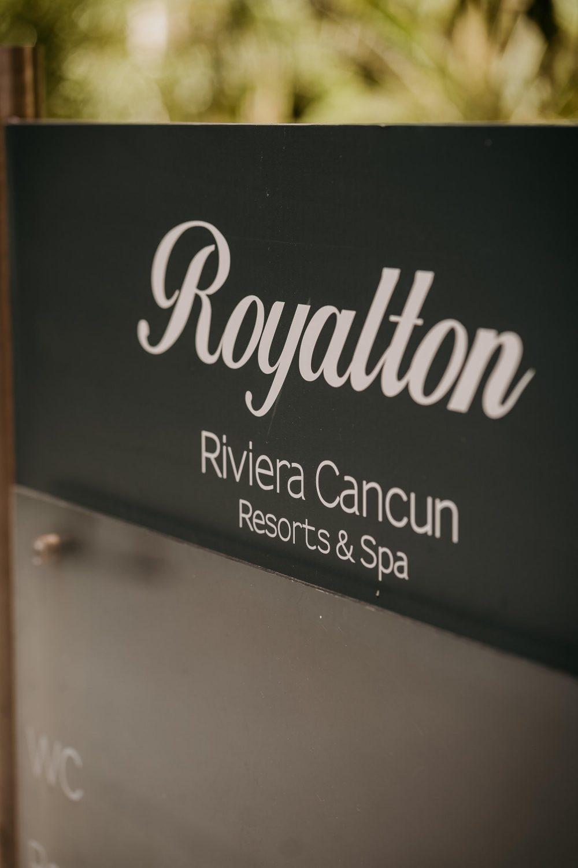 royalton riviera cancun sign