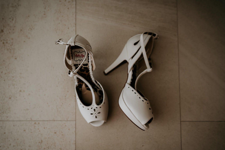 brides white wedding shoes