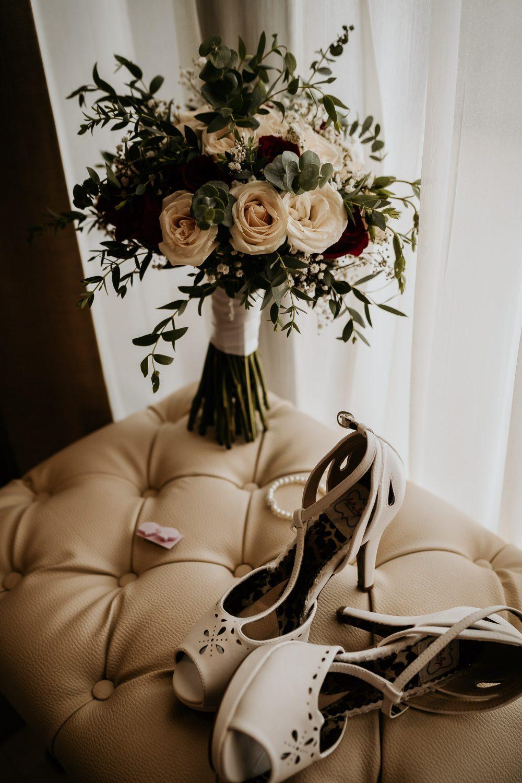 brides wedding details during wedding prep