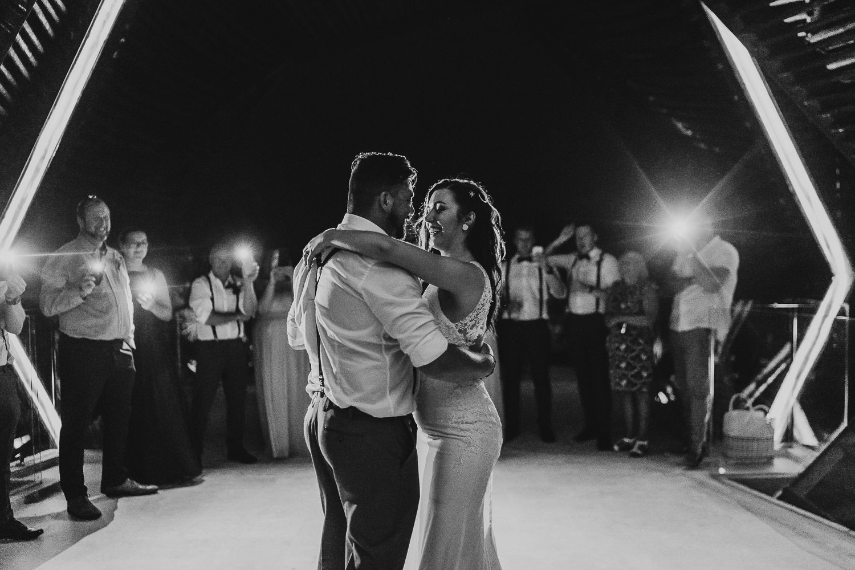 bride and groom dancing at royalton riviera resort